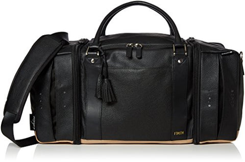 The Shrine X Freeman Plat Sneaker Duffel, Black/Gold