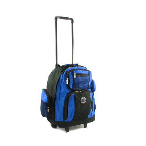 Transworld Roll-Away Deluxe Rolling Backpack - Royal Blue
