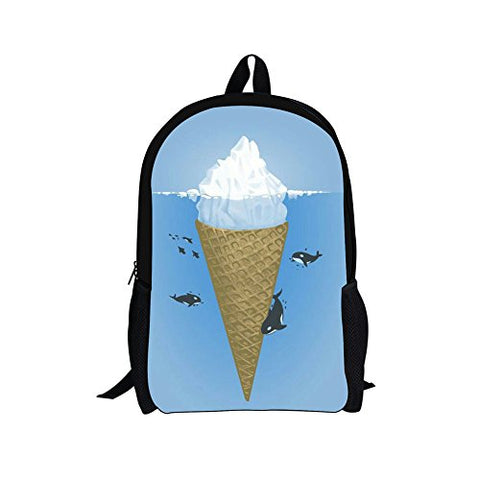 Doginthehole Sweety Style Ice Cream Backpacks Cute Students School Book Bags