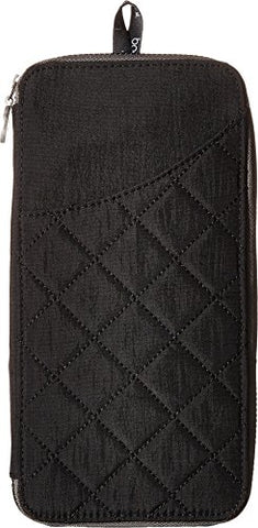 Baggallini Women'S Rfid Travel Wallet Black/Charcoal Wallets