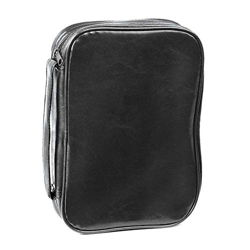 Black Leatherette 11 x 12 inch Bible Cover Case with Handle