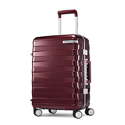 Samsonite Framelock Hardside Carry On Luggage With Spinner Wheels, 20 Inch, Cordovan