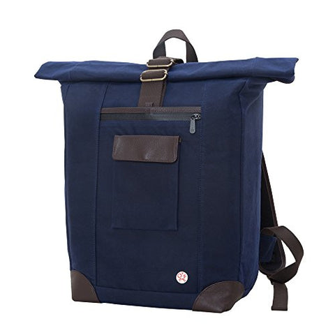 Token Bags Waxed Montrose Backpack, Navy, One Size