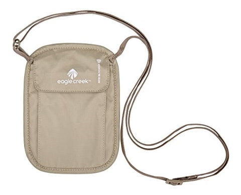 Eagle Creek Travel Gear Luggage RFID Blocker Neck Wallet, Tan