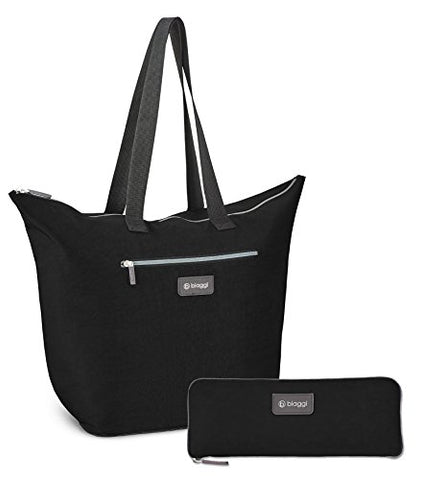 "Biaggi Luggage Zipsak 16"" Microfold Shopper Tote, Black"