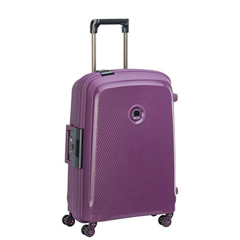 "Delsey Luggage Belfort DLX 26"" Checked Spinner, Purple"