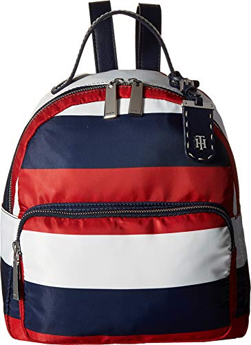 Tommy Hilfiger Women's Julia Backpack Rugby Nylon Navy/Natural One Size