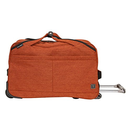 Ricardo Beverly Hills Malibu Bay 20-Inch Rolling City Duffel Bag Carry-On Luggage, Orange