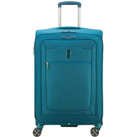 "Delsey Luggage Hyperglide 25"" Expandable Spinner Upright, Teal"