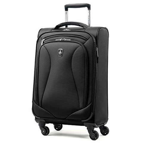 Atlantic Ultra Lite Softsides Carry-on Exp. Spinner, Jade Black