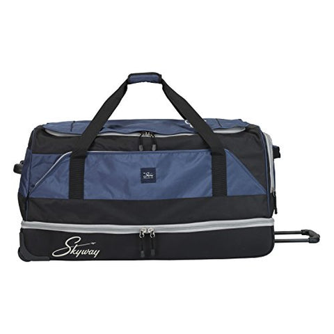 Skyway Sodo 34-inch Drop-Bottom Rolling Duffel, Navy Blue