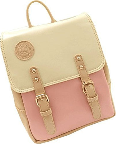 Big Mango Fashion Outdoor Bag Schoolbag Laptop Backpack Soft Satchel Handbag For Female (Pink)