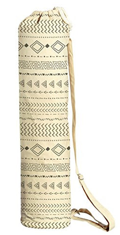 Black And White Tribal Printed Canvas Yoga Mat Bags Carriers Was_41