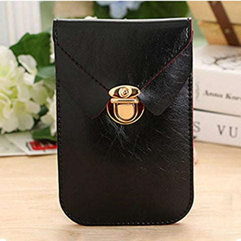 Bag For Cellphone Card Bag Handbag Mobile Phone Bag Shoulder Bag Package Bag (color - Black)
