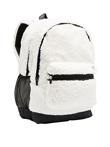 Shop Victoria Secret Pink Backpack Sherpa White New Campus Holiday ... ba04b01e2a498