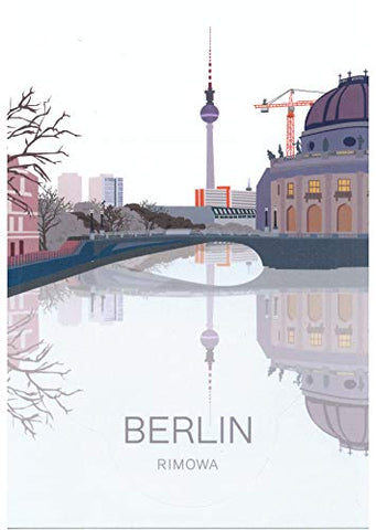 "RIMOWA Berlin country sticker for Topas, Original, Salsa, Essential series for luggage and carry on""Made in Germany"""