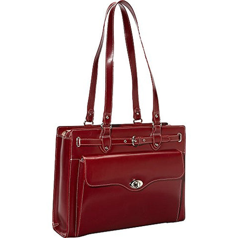 "McKlein USA Joliet 15"" Leather Laptop Tote EXCLUSIVE (Red)"