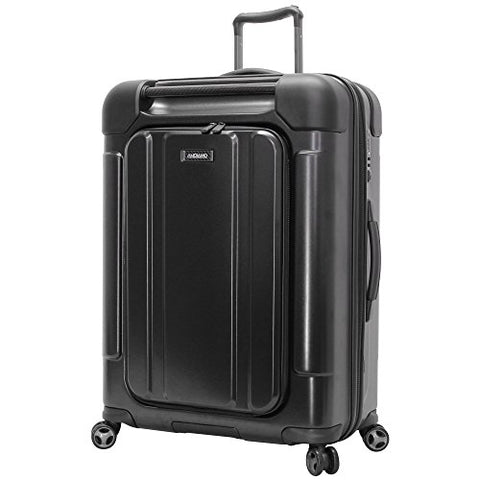 Andiamo Pantera Large Hard Case Luggage With Spinner Wheels (Carbon Black)