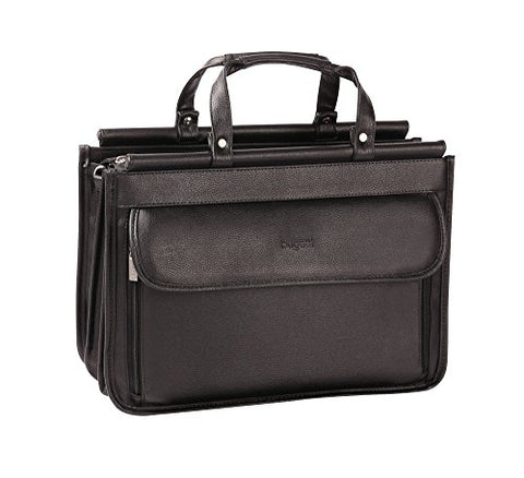 Bugatti Executive Briefcase, Synthetic Leather, Black