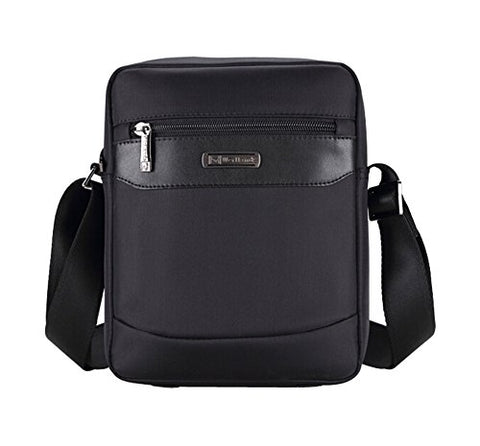 Men'S Fashion Leisure Business Briefcase Durable Messenger Shoulder Bag Black