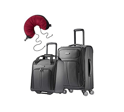 "Samsonite Leverage LTE 3 Piece Carry-On Bundle | 20"", Wheeled Boarding Bag, Travel Pillow"
