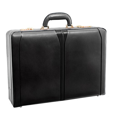 "McKlein, V Series, Turner, Top Grain Cowhide Leather, Leather 4.5"" Expandable Attaché Briefcase, Black (80485) (Renewed)"