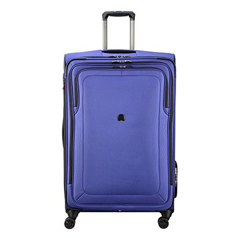 "Delsey Luggage Cruise Lite Softside 29"" Exp. Spinner Suiter Trolley, Blue"