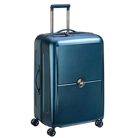 "Delsey Luggage Turenne 30"" Checked Luggage, Lightweight Hard Case Spinner Suitcase (Blue)"