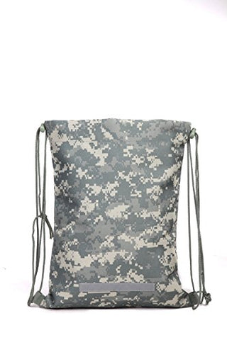 Heavy Duty Drawstring Backpack in Digital Camouflage Army Military Sack, Model: , Spoorting Goods