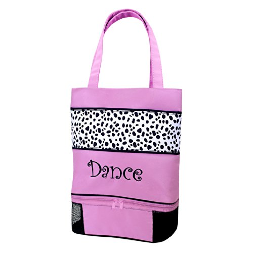 "Sassi Designs Dalmatian Dance Small Tote Size: Small 12"" X 11"" X 4"""