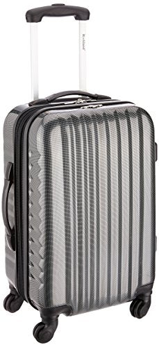 Rockland Melbourne 20 Inch Non-Expandable ABS Carry On, Carbon, One Size