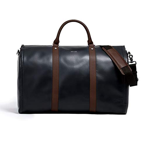 Men's Black and Brown Garment Weekender bag Project 11 by Hook & Albert