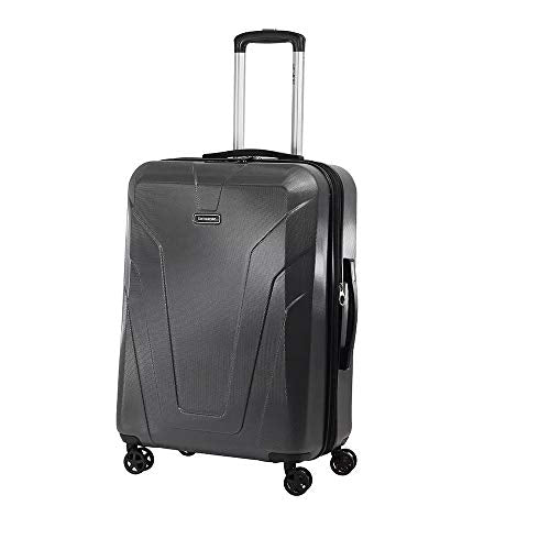 Samsonite Frontier Spinner Unisex Medium Black Polycarbonate Luggage Bag Q12009002
