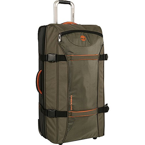 Timberland Luggage Twin Mountain 22 Inch Wheeled Duffle, Burnt Olive/Burnt Orange, One Size
