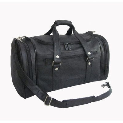 "Amerileather 22"" Jumbo Duffel Black/Duffel/Leather"