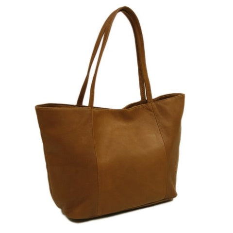 Piel Leather Tote, Saddle, One Size
