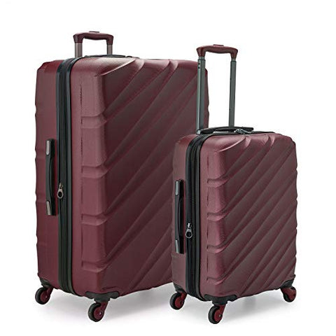 U.S. Traveler Gilmore 2 Piece Expandable Hardside Spinner Luggage Set (Burgundy)