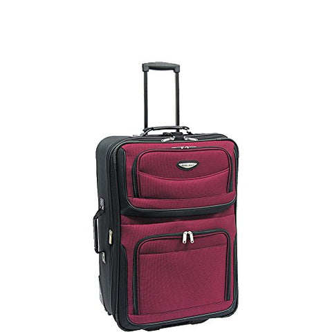 Travelers Choice Travel Select Amsterdam 25-Inch Expandable Rolling Upright, Burgundy