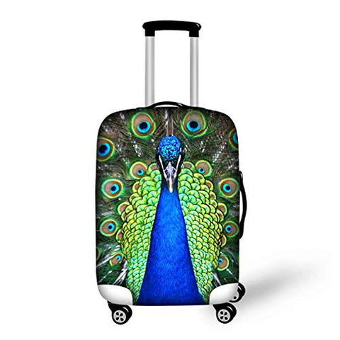 "Bigcardesigns Peacock Travel Luggage Protective Covers for 26""-30"" Suitcase Elastic"