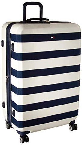 "Tommy Hilfiger Rugby 28"" Expandable Hardside Spinner, White"