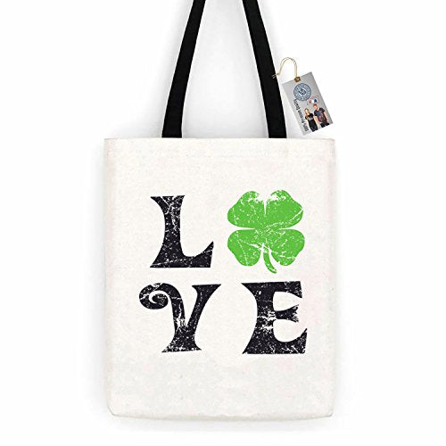 Love Shamrock ShirtCotton Canvas Tote Bag Day Trip Bag Carry All