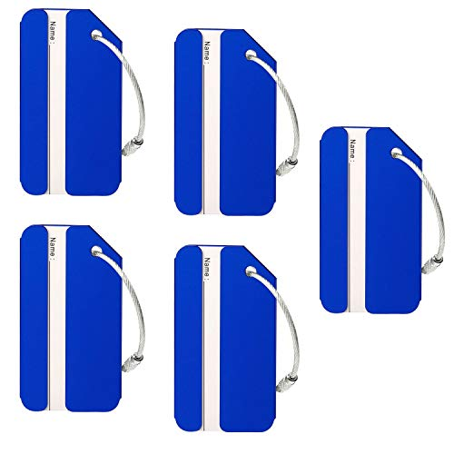 Aluminum Luggage Tags Holders, Bright Suitcase Tags & Luggage Baggage Identifier By