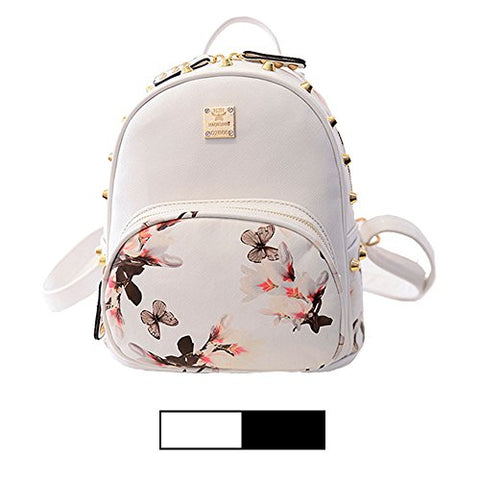 Mini Backpack For Girls Designer Rivet Pu Leather Travel Bags Womens Casual Fashion College
