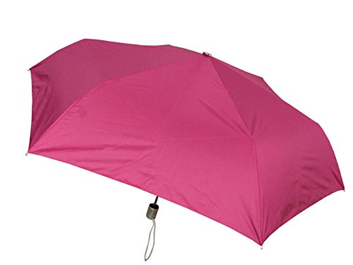 London Fog Tiny Mini Auto Open Close Umbrella, Fuchsia