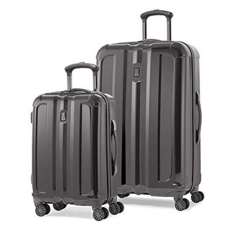 "Travelpro Inflight Lite Two-Piece Hardside Spinner Set (20""/29"") (Exclusive To Amazon), Gunmetal"