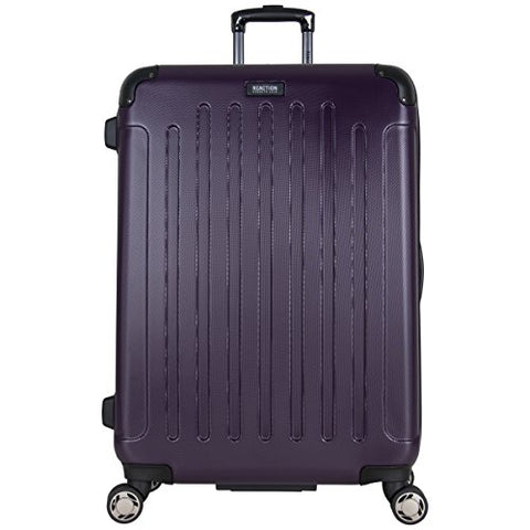 "Kenneth Cole Reaction 28"" Abs Expandable 8-Wheel Checked Luggage, Deep Purple"