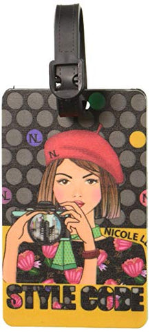 Nicole Lee Women's 2 Piece Luggage Bag Travel Tags, [red] Fashion Prints, Info Tab, Clara Loves Photo
