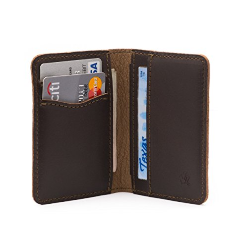 Saddleback Leather Front Pocket Bifold Wallet- 100% Full Grain Leather, RFID Shielded Thin Bifold Wallet with 100 Year Warranty