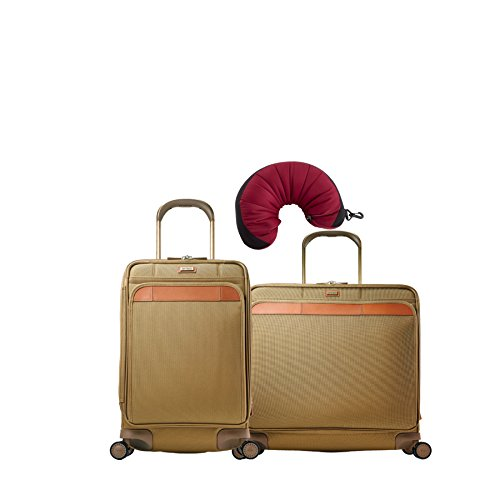 Hartmann Ratio Classic Deluxe | 3-Piece Set | Global Carry On & Extended Journey Expandable Glider, Travel Pillow