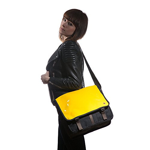 Token Bags Metropolitan Enamel DJ Bag, Yellow, One Size